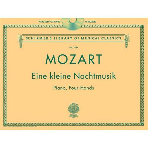 SCHIRMER PIANO DUET PLAY-ALONG - W.A. MOZART - EINE KLEINE NACHTMUSIK + CD - PIANO DUET