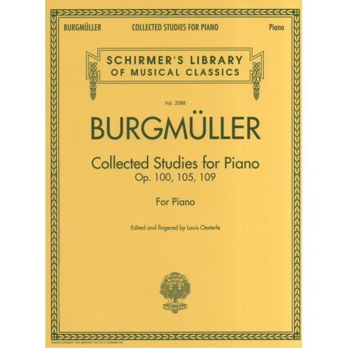 SCHIRMER BURGMULLER COLLECTED STUDIES OP 100 105 109 - PIANO SOLO