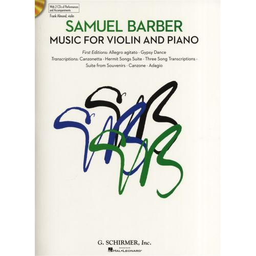 HAL LEONARD SAMUEL BARBER MUSIC FOR VIOLIN AND PIANO + 2CD - VIOLIN