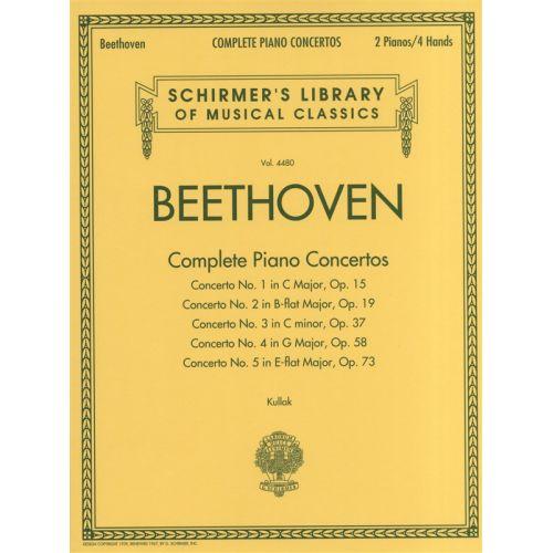 HAL LEONARD BEETHOVEN LUDWIG VAN COMPLETE PIANO CONCERTOS - PIANO SOLO