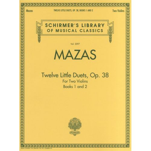 HAL LEONARD MAZAS JACQUES F - TWELVE LITTLE DUETS OP.38 BOOKS 1 AND 2 VIOLIN DUETS - VIOLIN
