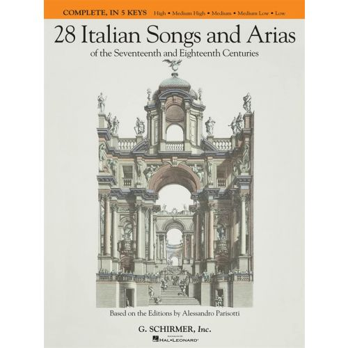 HAL LEONARD 28 ITALIAN SONGS AND ARIAS COMPLETE EDITION ALL 5 KEYS - VOICE