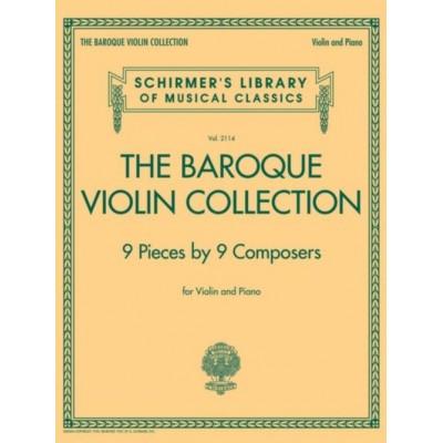SCHIRMER THE BAROQUE VIOLIN COLLECTION - VIOLON & PIANO