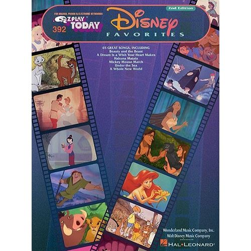HAL LEONARD E-Z PLAY TODAY 392 DISNEY FAVORITES - MELODY LINE, LYRICS AND CHORDS
