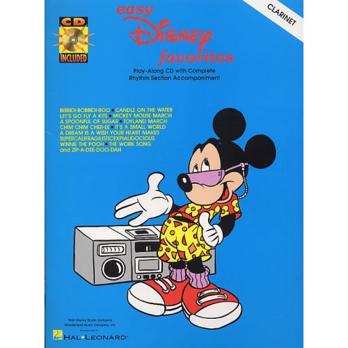 HAL LEONARD EASY DISNEY FAVORITES FOR + CD - CLARINET