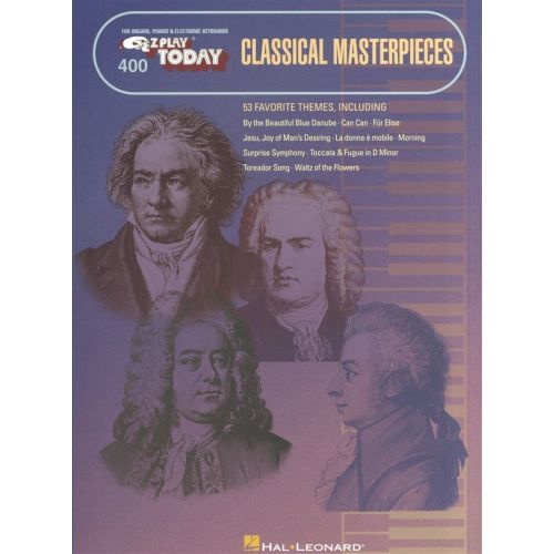 HAL LEONARD E-Z PLAY TODAY 400 CLASSICAL MASTERPIECES - MELODY LINE, LYRICS AND CHORDS