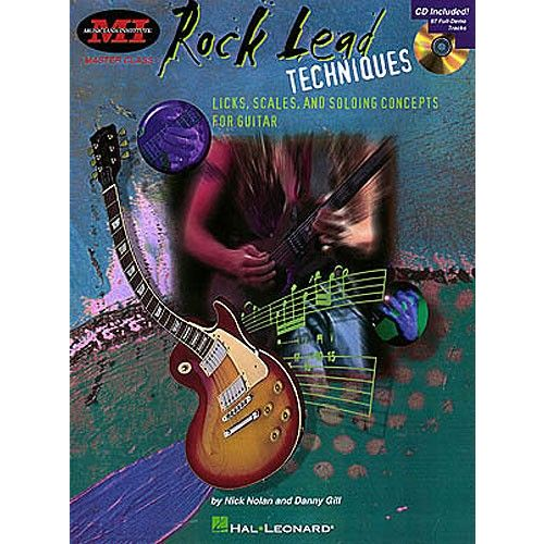 HAL LEONARD GILL DANNY - ROCK LEAD TECHNIQUES - TECHNIQUES, SCALES AND FUNDAMENTALS FOR GUITAR [WITH *] - GUITAR