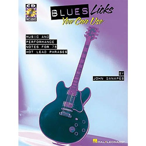 HAL LEONARD BLUES LICKS YOU CAN USE + CD - GUITAR TAB