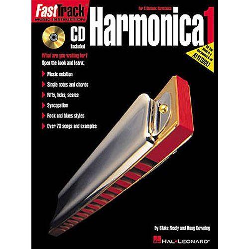 HAL LEONARD FAST TRACK HARMONICA BOOK ONE + CD - HARMONICA