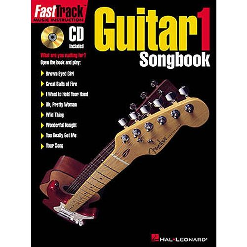 HAL LEONARD FAST TRACK GUITAR - LEVEL 1 SONGBOOK VOL.1 + CD - GUITAR TAB