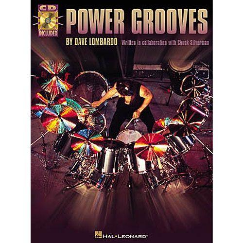 HAL LEONARD DAVE LOMBARDO POWER GROOVES DRUMS + CD - DRUMS