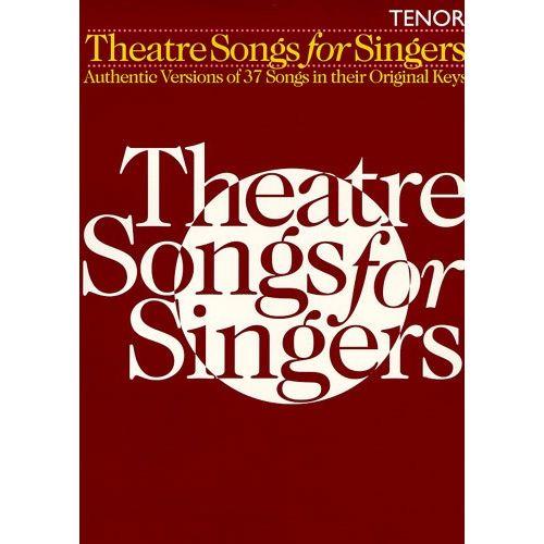 HAL LEONARD THEATRE SONGS FOR SINGERS - TENOR