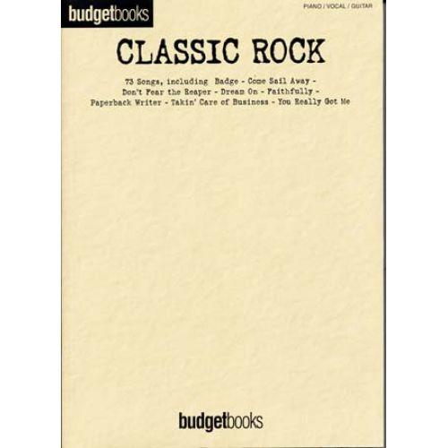 HAL LEONARD BUDGETBOOKS CLASSIC ROCK - PVG