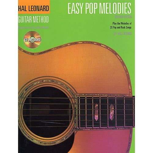 HAL LEONARD EASY POP MELODIES - GUITARE + CD