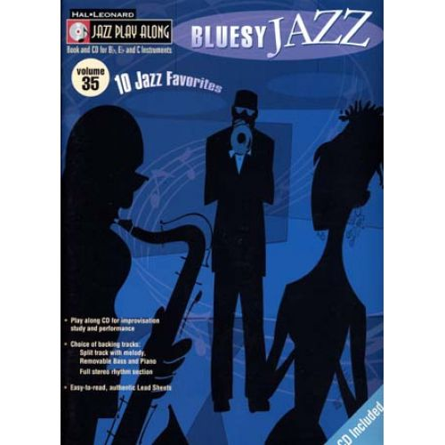 HAL LEONARD JAZZ PLAY ALONG VOL.35 - BLUESY JAZZ + CD - Bb, Eb, C INSTRUMENTS