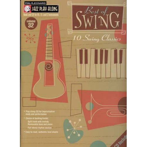 HAL LEONARD JAZZ PLAY ALONG VOL.32 BEST OF SWING BB, EB, C INST. CD