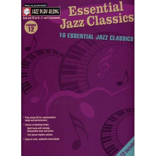 HAL LEONARD JAZZ PLAY ALONG VOL.12 10 ESSENTIAL JAZZ CLASSICS CD