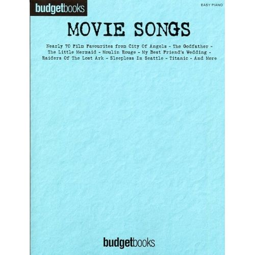 HAL LEONARD MOVIE SONGS - EASY PIANO SONGBOOK - PVG