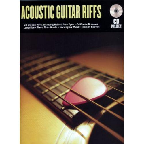 HAL LEONARD ACOUSTIC GUITAR RIFFS + CD - GUITAR TAB