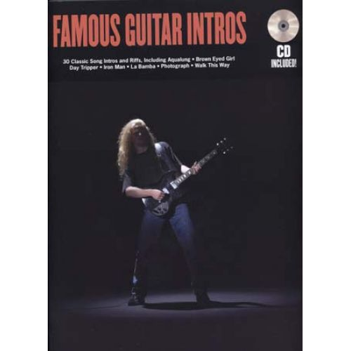 HAL LEONARD FAMOUS GUITAR INTROS + CD - GUITAR TAB