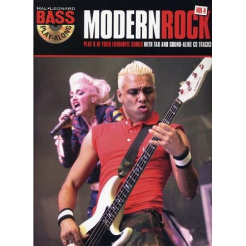 HAL LEONARD BASS PLAY ALONG VOL.4 MODERN ROCK TAB + CD