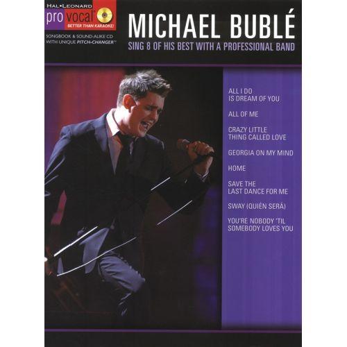 HAL LEONARD MICHAEL BUBLE - PRO VOCAL - MICHAEL BUBLE - VOICE