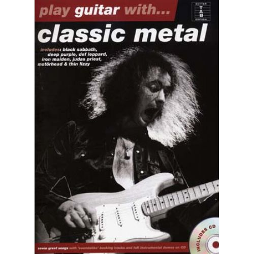 HAL LEONARD PLAY GUITAR WITH - CLASSIC METAL + CD - GUITAR TAB