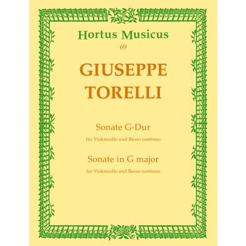 BARENREITER TORELLI G. - SONATE G-DUR - VIOLONCELLE & PIANO
