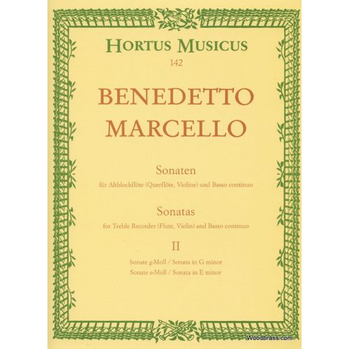BARENREITER MARCELLO B. - SONATAS FOR TREBLE RECORDER AND BASSO CONTINUO OP.2 VOL.2