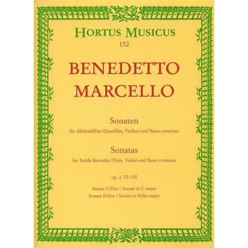 HORTUS MUSICUS MARCELLO B. - 6 SONATAS VOL. 3 OP. 2 - RECORDER, BASSO CONTINUO