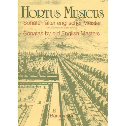 HORTUS MUSICUS SONATEN ALTER ENGLISCHER MEISTER FUR ALTBLOCKFLOTE UND BASSO CONTINUO VOL.3