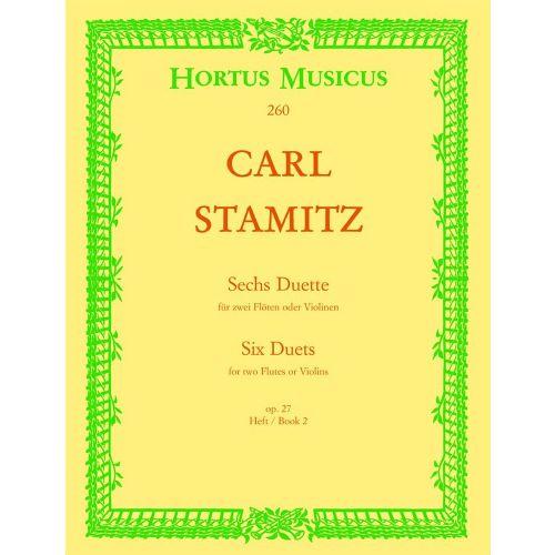 BARENREITER STAMITZ CARL - SECHS DUETTE, OP 27 VOL.2 - FLUTE