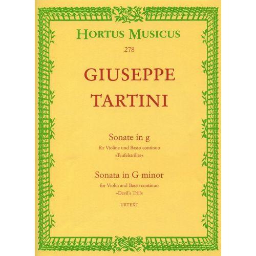 HORTUS MUSICUS TARTINI GIUSEPPE - SONATE IN G
