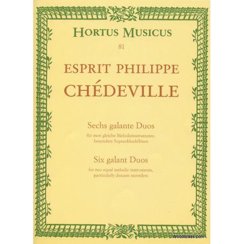 BARENREITER CHEDEVILLE E. PH. - SECHS GALANTE DUOS - 2 INSTRUMENTS MELODIQUES