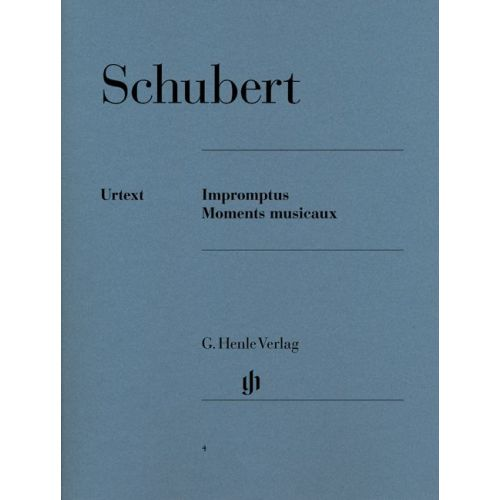 HENLE VERLAG SCHUBERT F. - IMPROMPTUS AND MOMENTS MUSICAUX