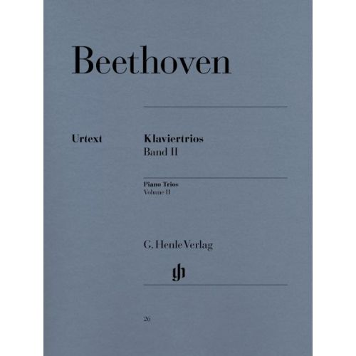 HENLE VERLAG BEETHOVEN L.V. - PIANO TRIOS, VOLUME II