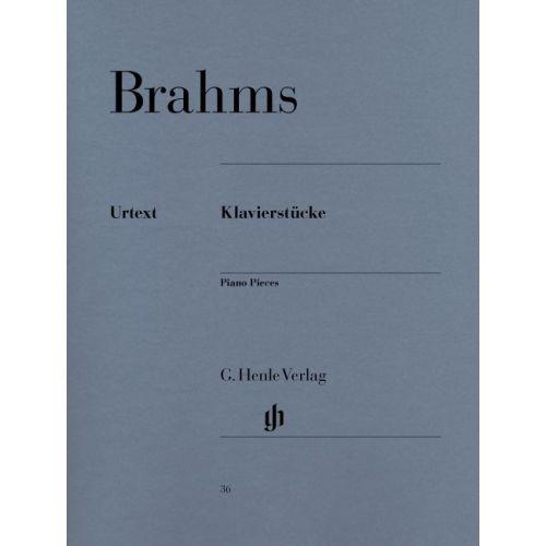 HENLE VERLAG BRAHMS J. - PIANO PIECES