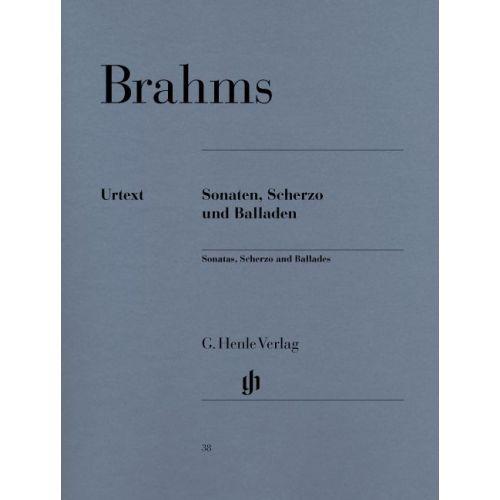 HENLE VERLAG BRAHMS J. - SONATAS, SCHERZO AND BALLADES