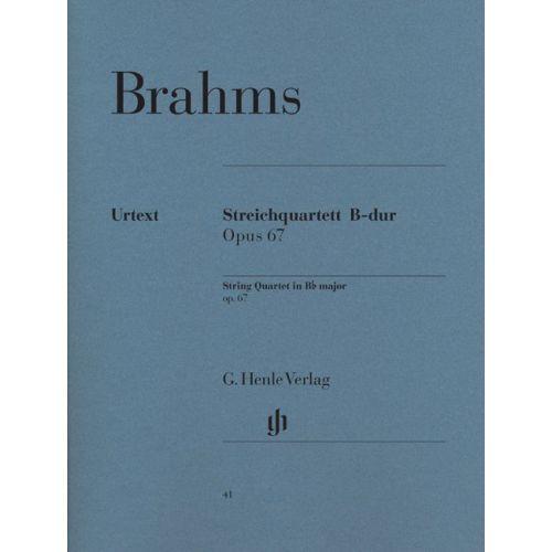 HENLE VERLAG BRAHMS J. - STRING QUARTET BB MAJOR OP. 67