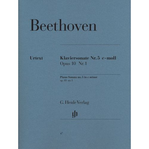 HENLE VERLAG BEETHOVEN L.V. - PIANO SONATA NO. 5 C MINOR OP. 10,1