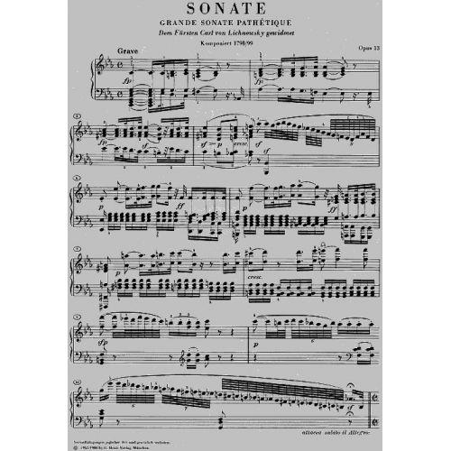 Henle Verlag Beethoven L V Piano Sonata No 8 C Minor Op 13 Grande Sonata Pathetique