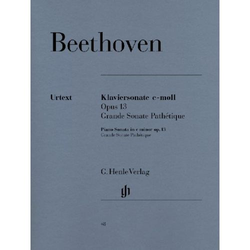 HENLE VERLAG BEETHOVEN L.V. - PIANO SONATA NO. 8 C MINOR OP. 13 [GRANDE SONATA PATHETIQUE]
