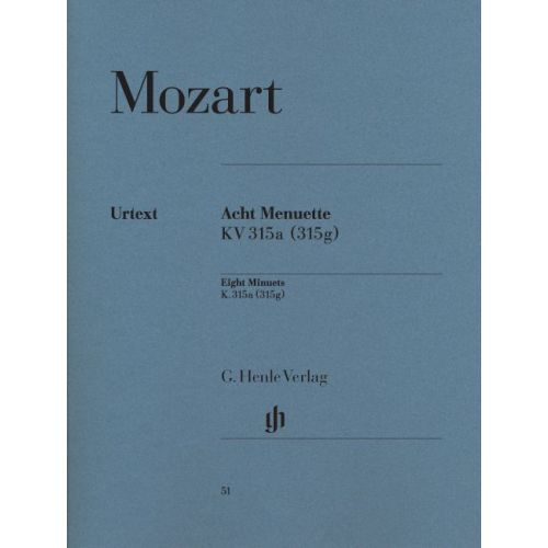 HENLE VERLAG MOZART W.A. - 8 MINUETS WITH TRIOS KV 315G - PIANO