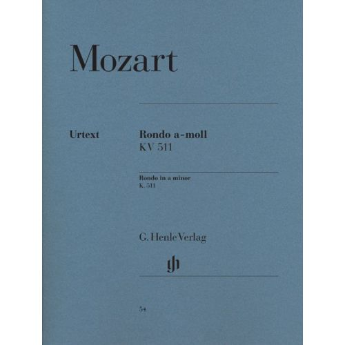 HENLE VERLAG MOZART W.A. - RONDO IN A MINOR K. 511