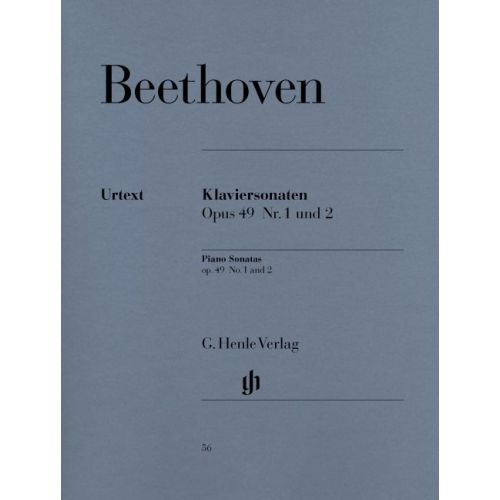 HENLE VERLAG BEETHOVEN L.V. - 2 EASY PIANO SONATAS NO. 19 G MINOR OP. 49,1 AND NO. 20 G MAJOR OP. 49,2