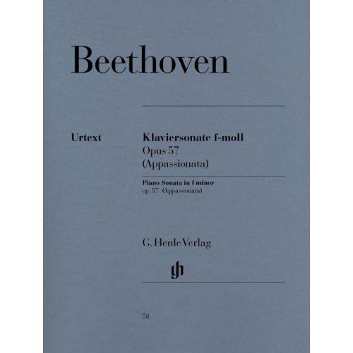 HENLE VERLAG BEETHOVEN L.V. - PIANO SONATA NO. 23 F MINOR OP. 57 [APPASSIONATA]