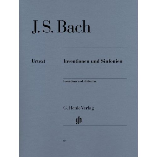 HENLE VERLAG BACH J.S. - INVENTIONS AND SINFONIAS BWV 772-801