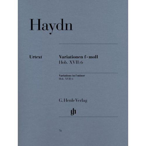 HENLE VERLAG HAYDN J. - VARIATIONS F MINOR HOB. XVII:6