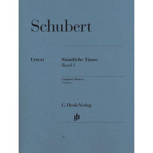HENLE VERLAG SCHUBERT F. - COMPLETE DANCES, VOLUME I