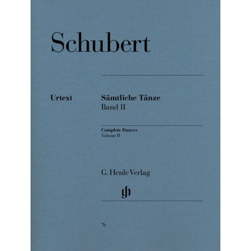 HENLE VERLAG SCHUBERT F. - COMPLETE DANCES, VOLUME II